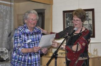 Julia Hedley receiving her honorary life membership